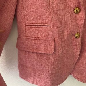 J. Crew Jackets & Coats - J. Crew Herringbone Schoolboy Wool Blazer Pink
